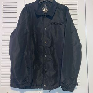 NWT Men's Starter Jacket Windbreaker Size XL Black